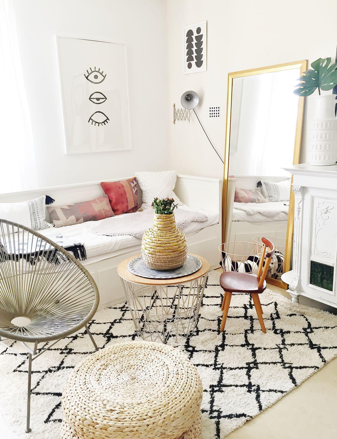 Wohnzimmer Boho Style Wohnen