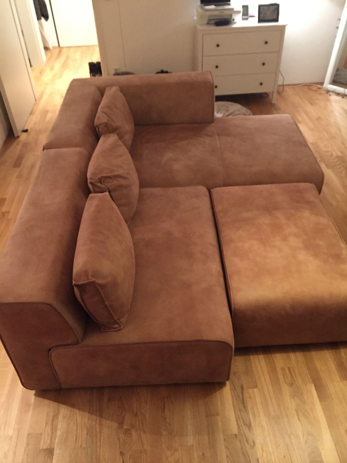 Wohnzimmer Couch Cognac