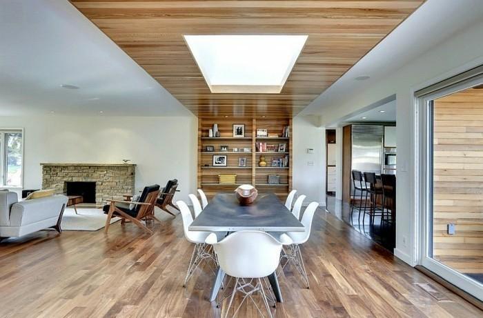 Wohnzimmer Deckenverkleidung Holz