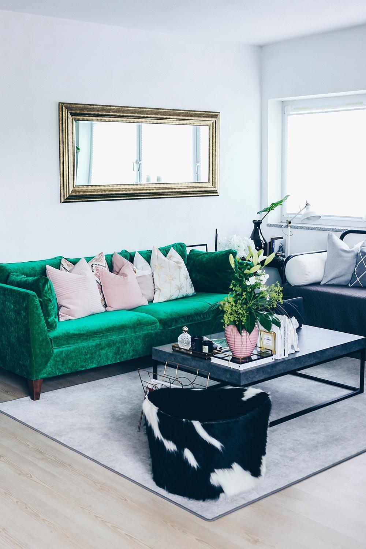 Wohnzimmer Einrichten Grau Blau