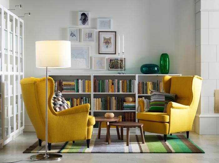 Wohnzimmer Einrichten Grau Gelb