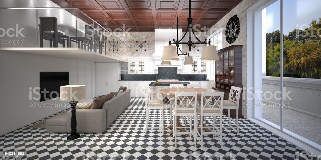 Wohnzimmer Esszimmer Küche