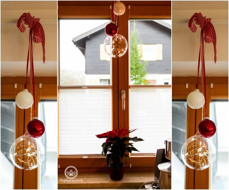 Wohnzimmer Fenster Weihnachtlich Dekorieren