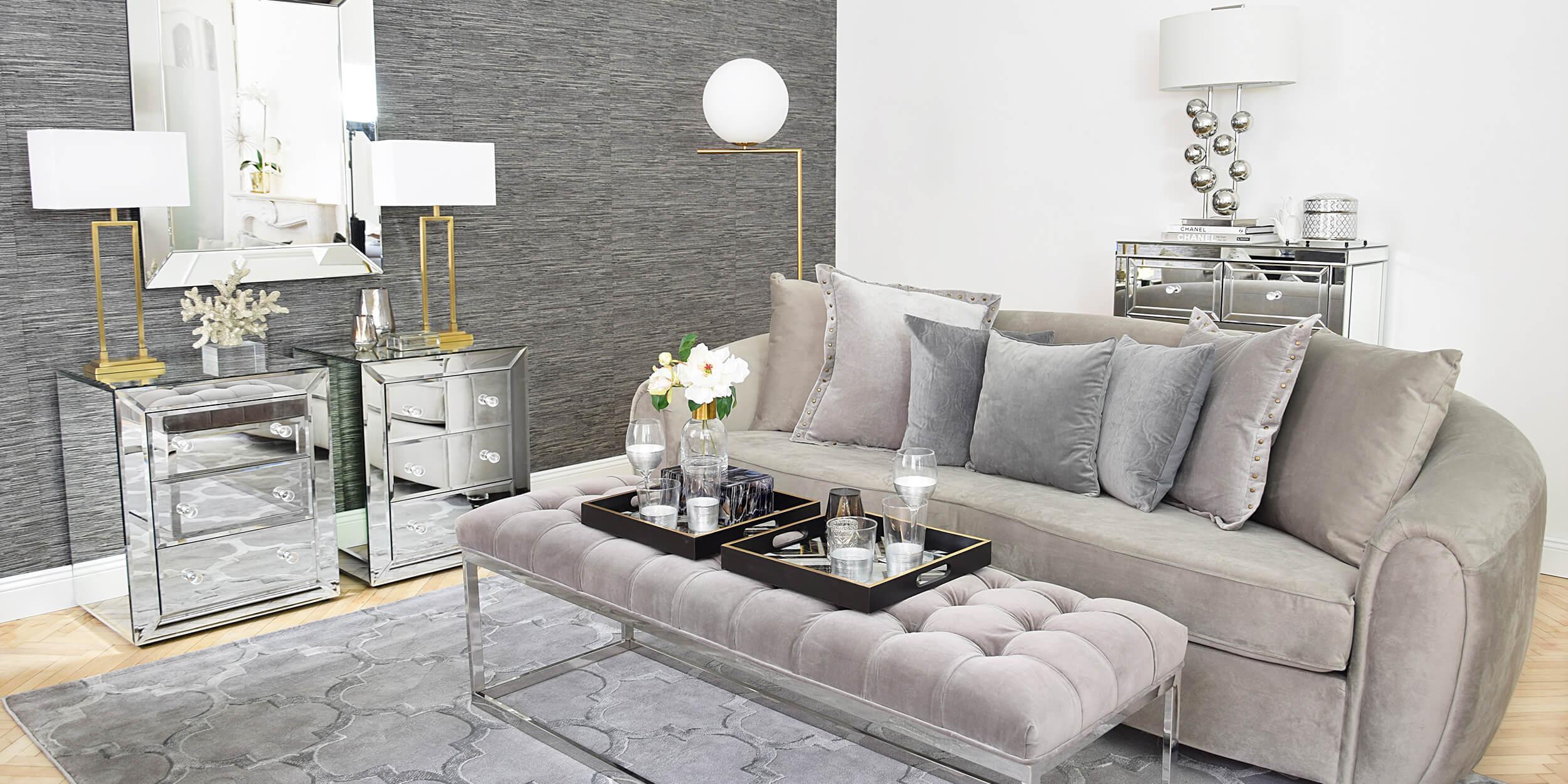 Wohnzimmer Gold Silber