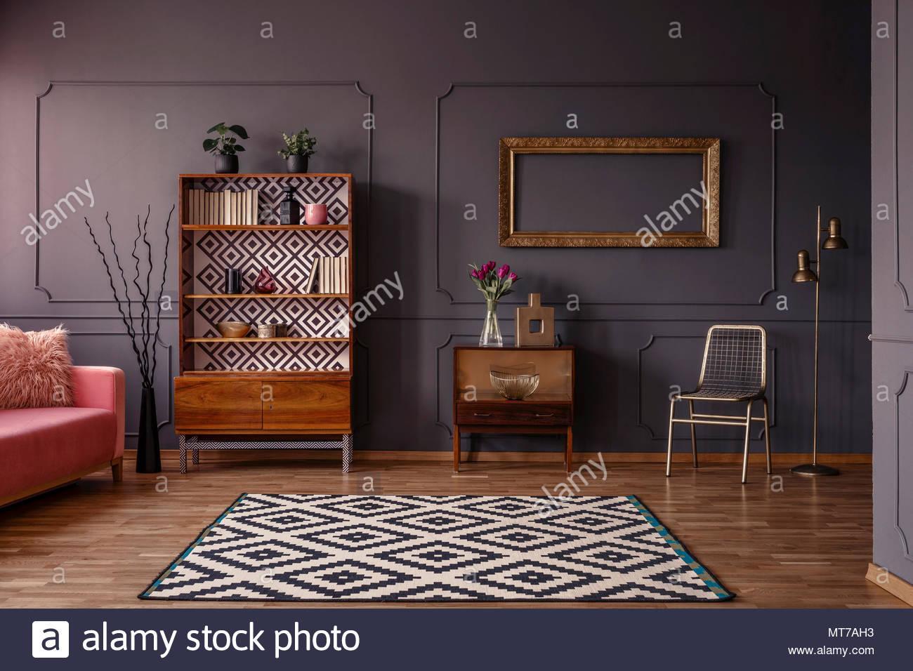 Wohnzimmer Goldene Wand