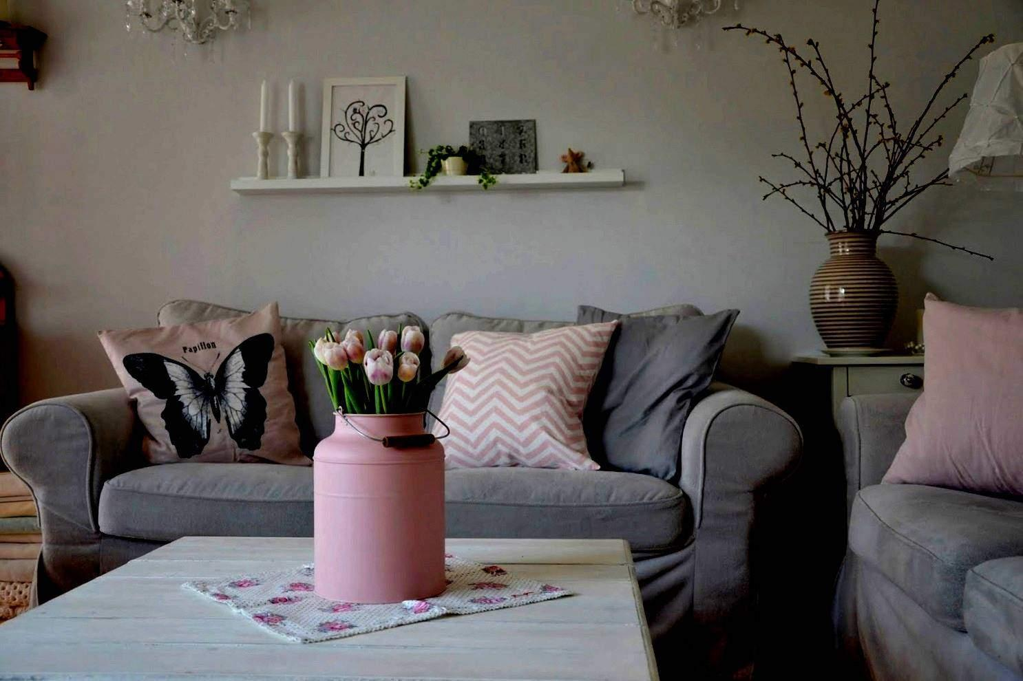 Wohnzimmer Grau Altrosa