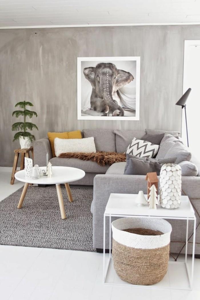 Wohnzimmer Grau Beige Grün