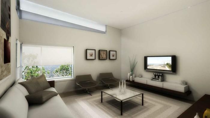 Wohnzimmer Grau Beige Holz