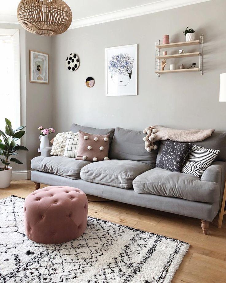 Wohnzimmer Grau Rosa Beige