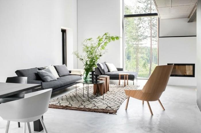 Wohnzimmer Grau Weiß Braun