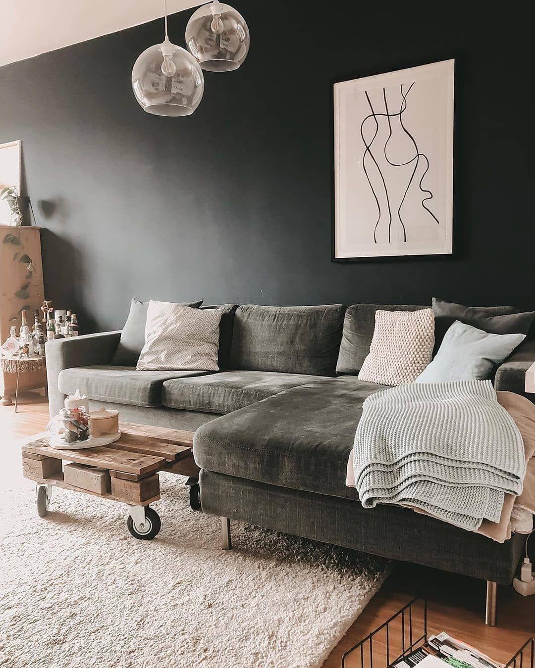 Wohnzimmer Graue Couch Welche Wandfarbe