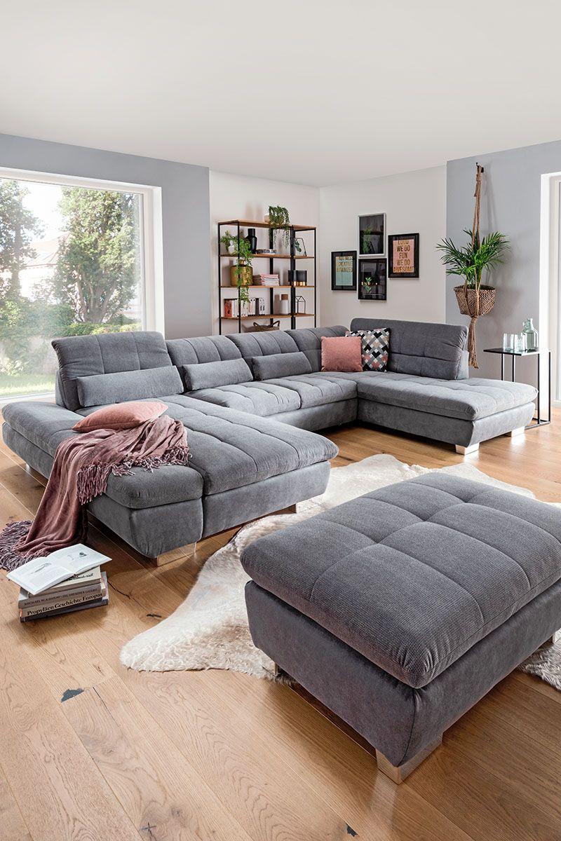 Wohnzimmer Graue Couch