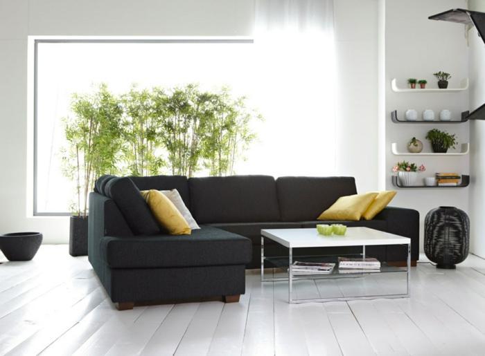 Wohnzimmer Heller Boden Dunkle Möbel