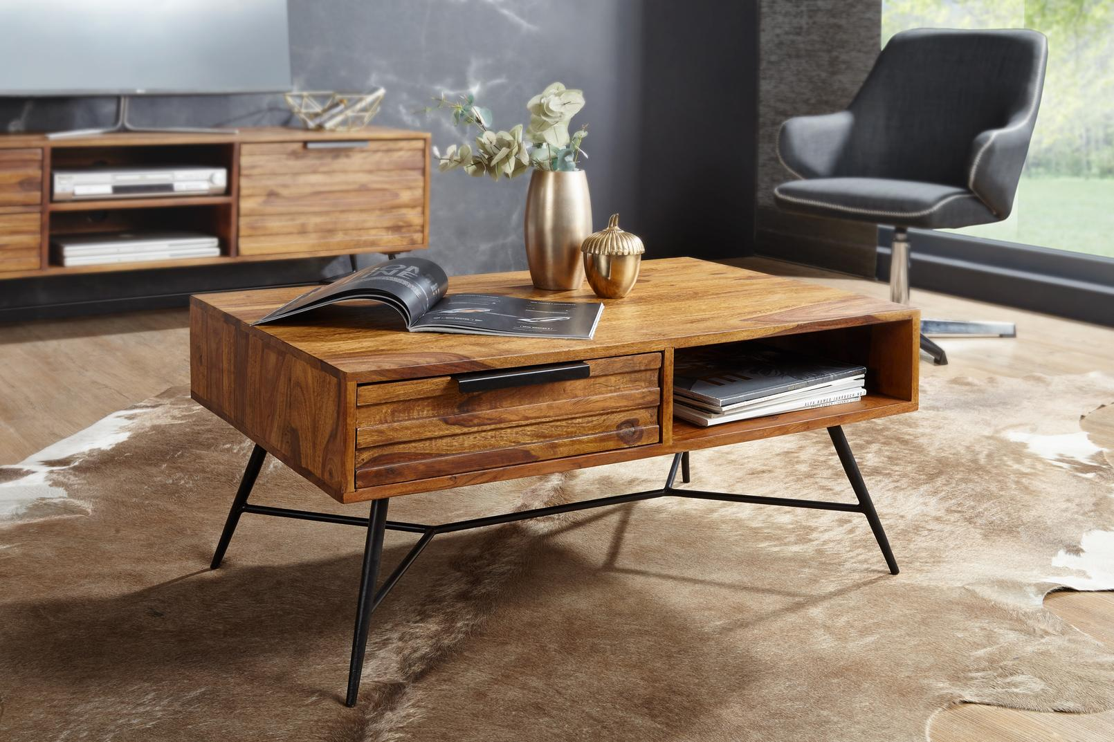 Wohnzimmer Holztisch Massiv