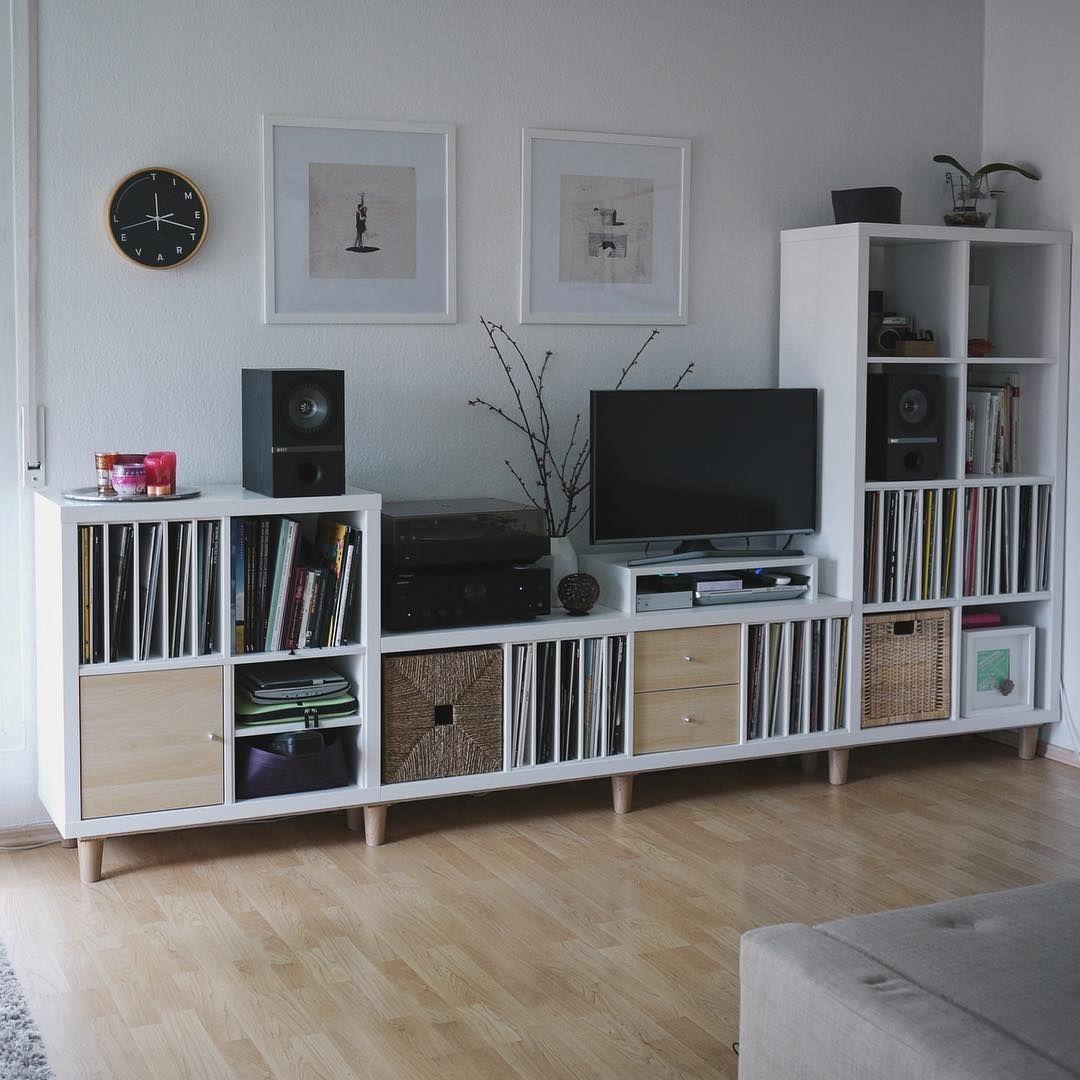 Wohnzimmer Ideen Ikea Kallax