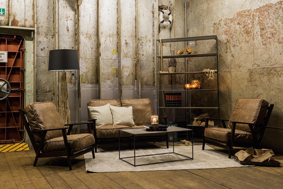 Wohnzimmer Industrial Look
