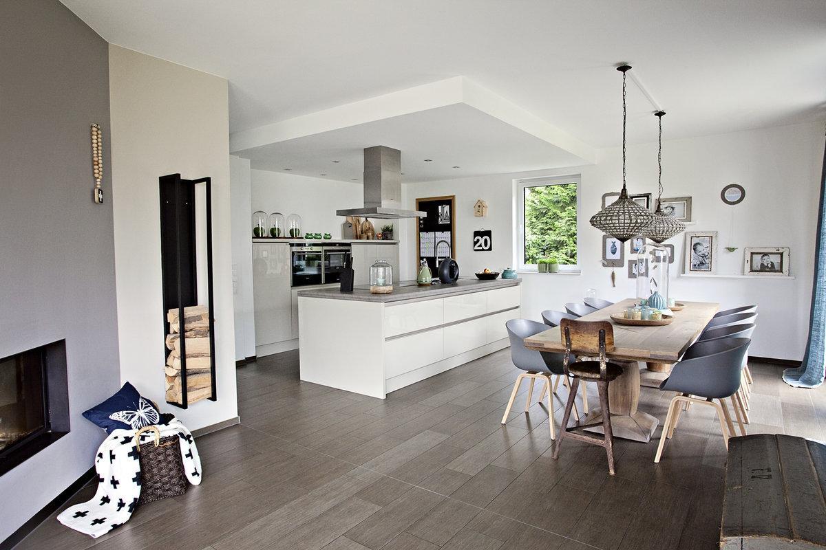 Wohnzimmer Küche Offen