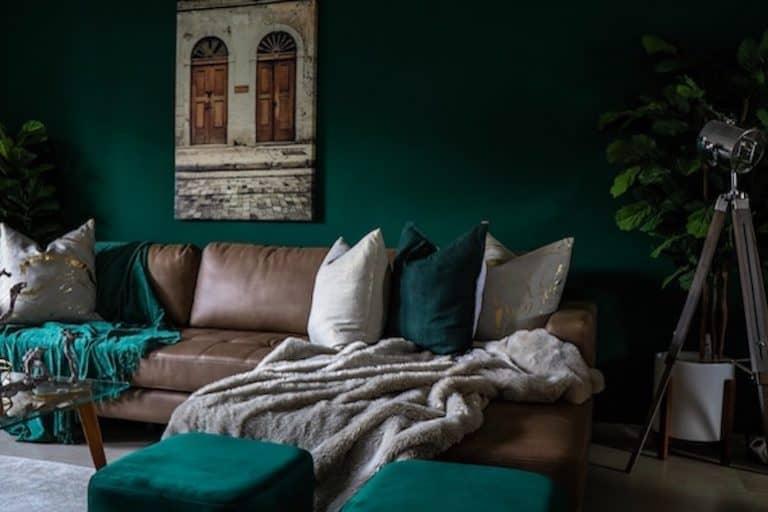 Wohnzimmer Kissen Deko Sofa