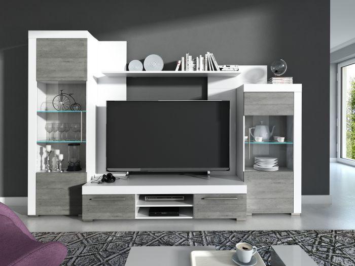Wohnzimmer Lowboard Weiß