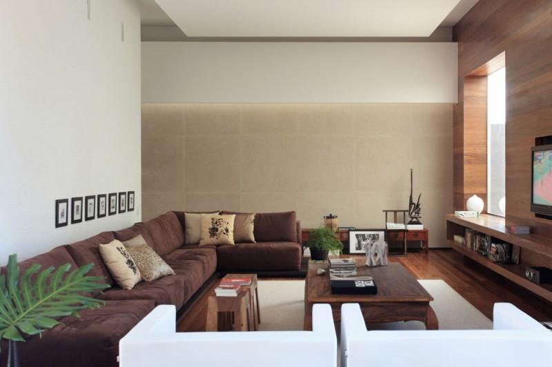 Wohnzimmer Modern Grau Braun