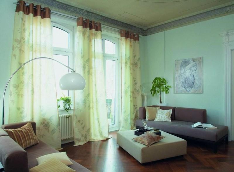 Wohnzimmer Modern Ideen Gardinen