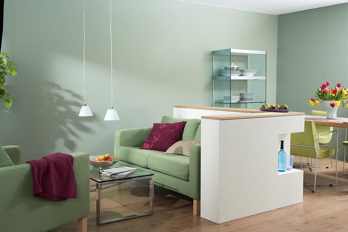 Wohnzimmer Raumteiler Wand