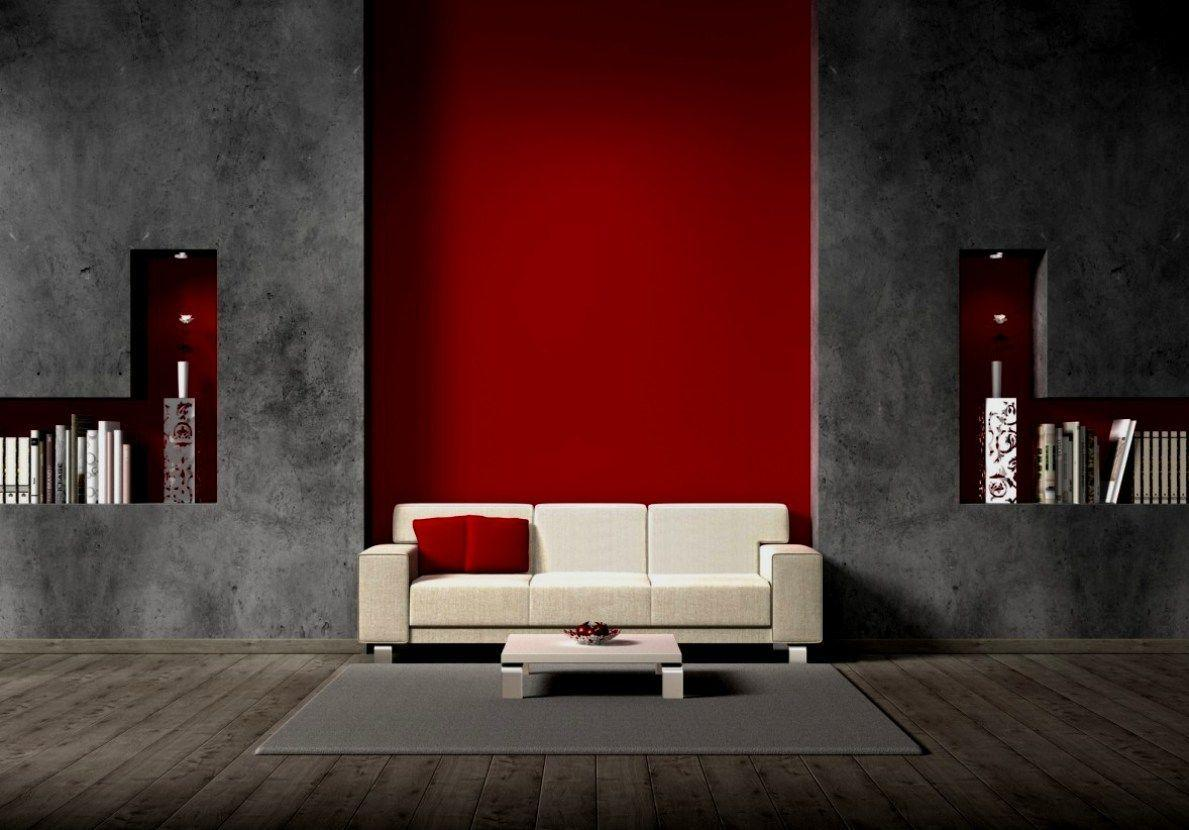 Wohnzimmer Rot Grau