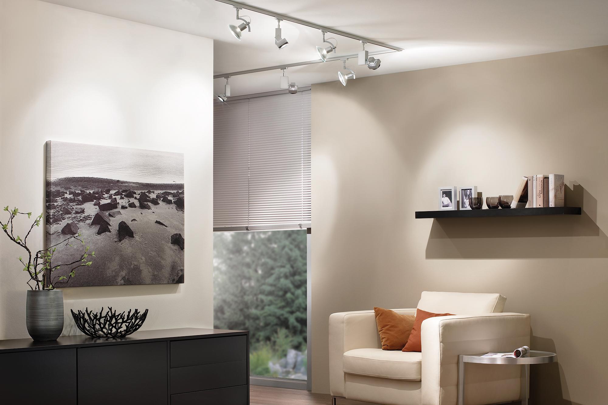 Wohnzimmer Schienensystem Lampen