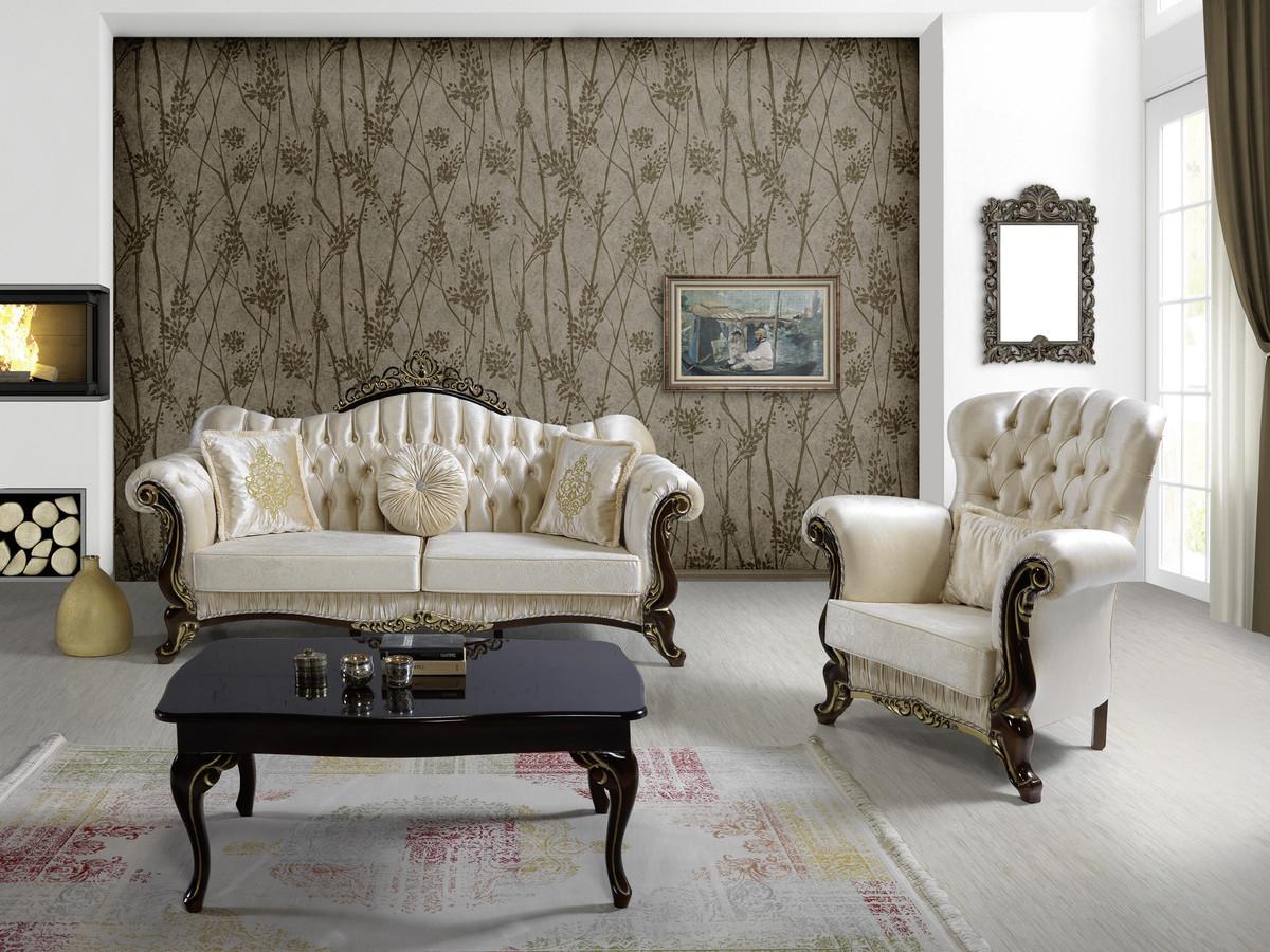 Wohnzimmer Schwarz Weiß Gold