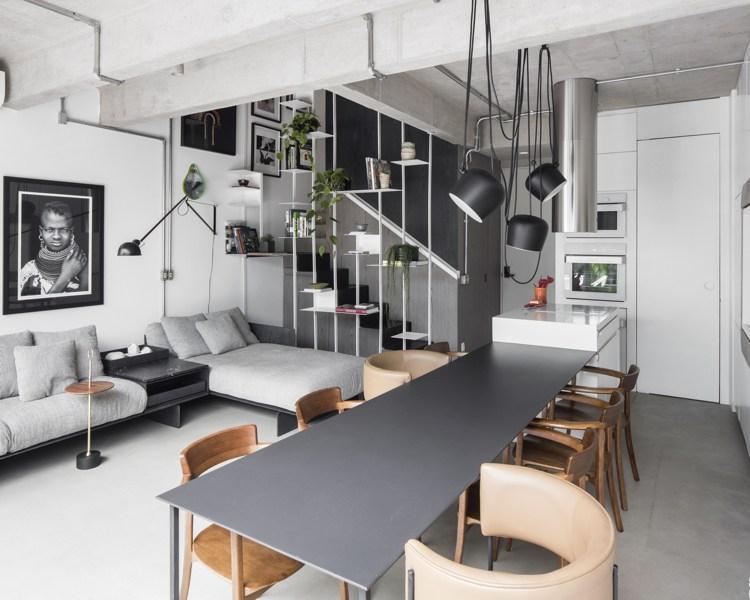 Wohnzimmer Schwarz Weiß