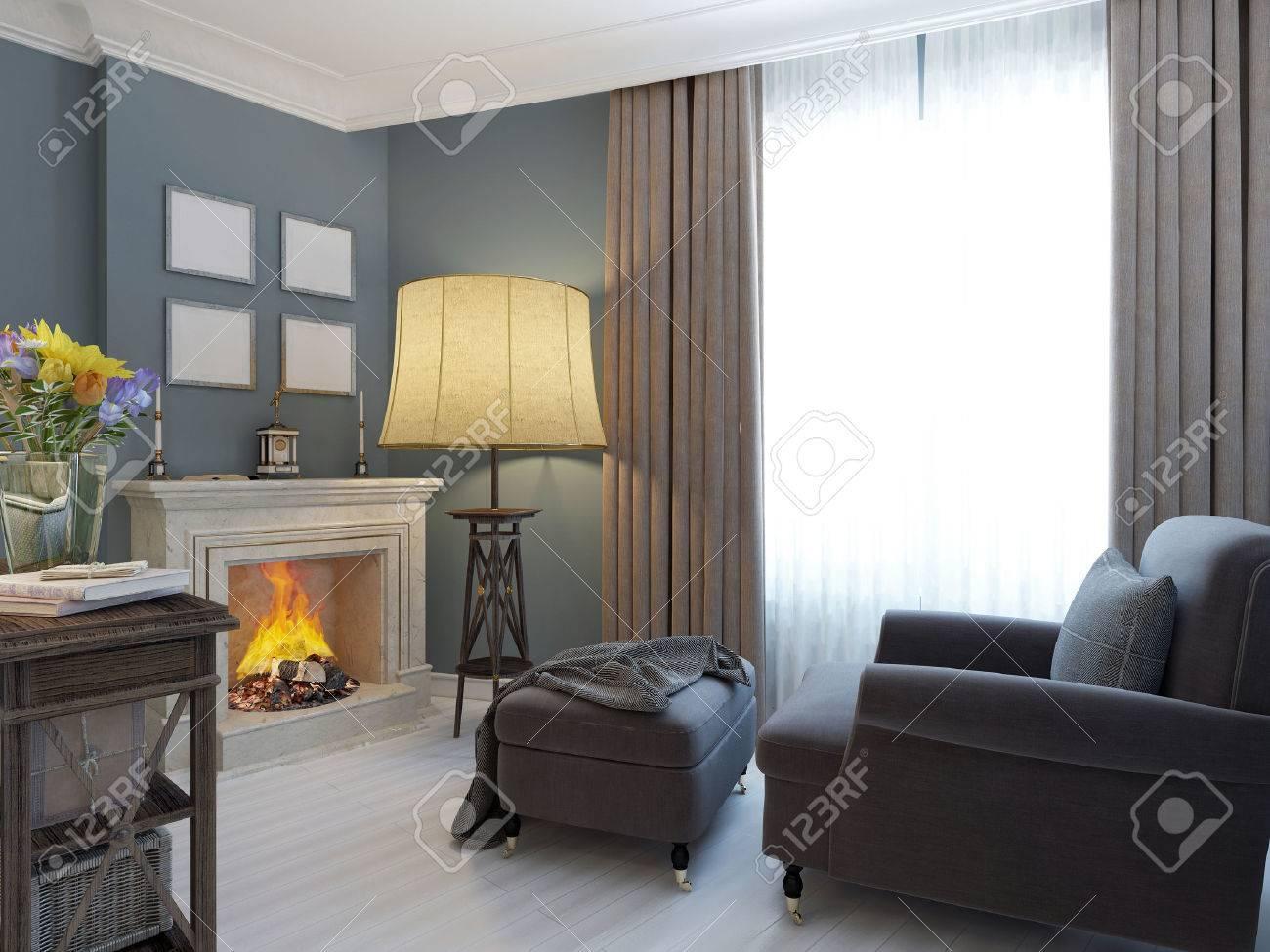 Wohnzimmer Sessel Mit Hocker