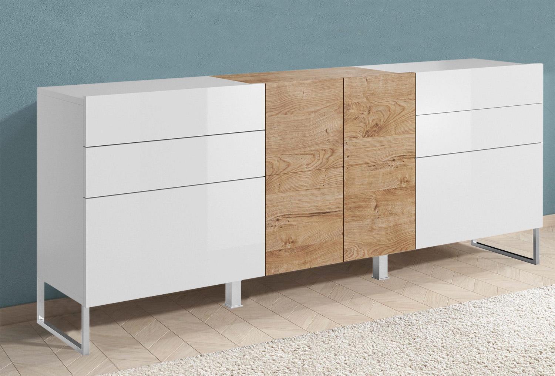 Wohnzimmer Sideboard Weiß Eiche