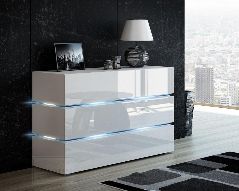 Wohnzimmer Sideboard Weiß Hochglanz
