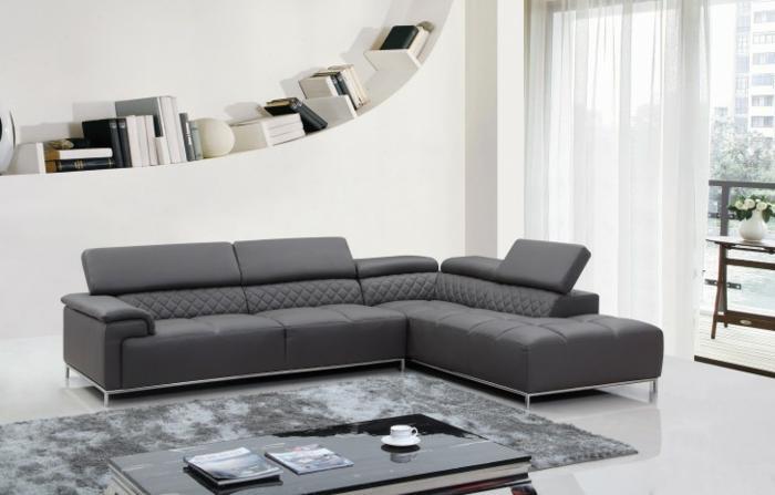 Wohnzimmer Sofa Anthrazit