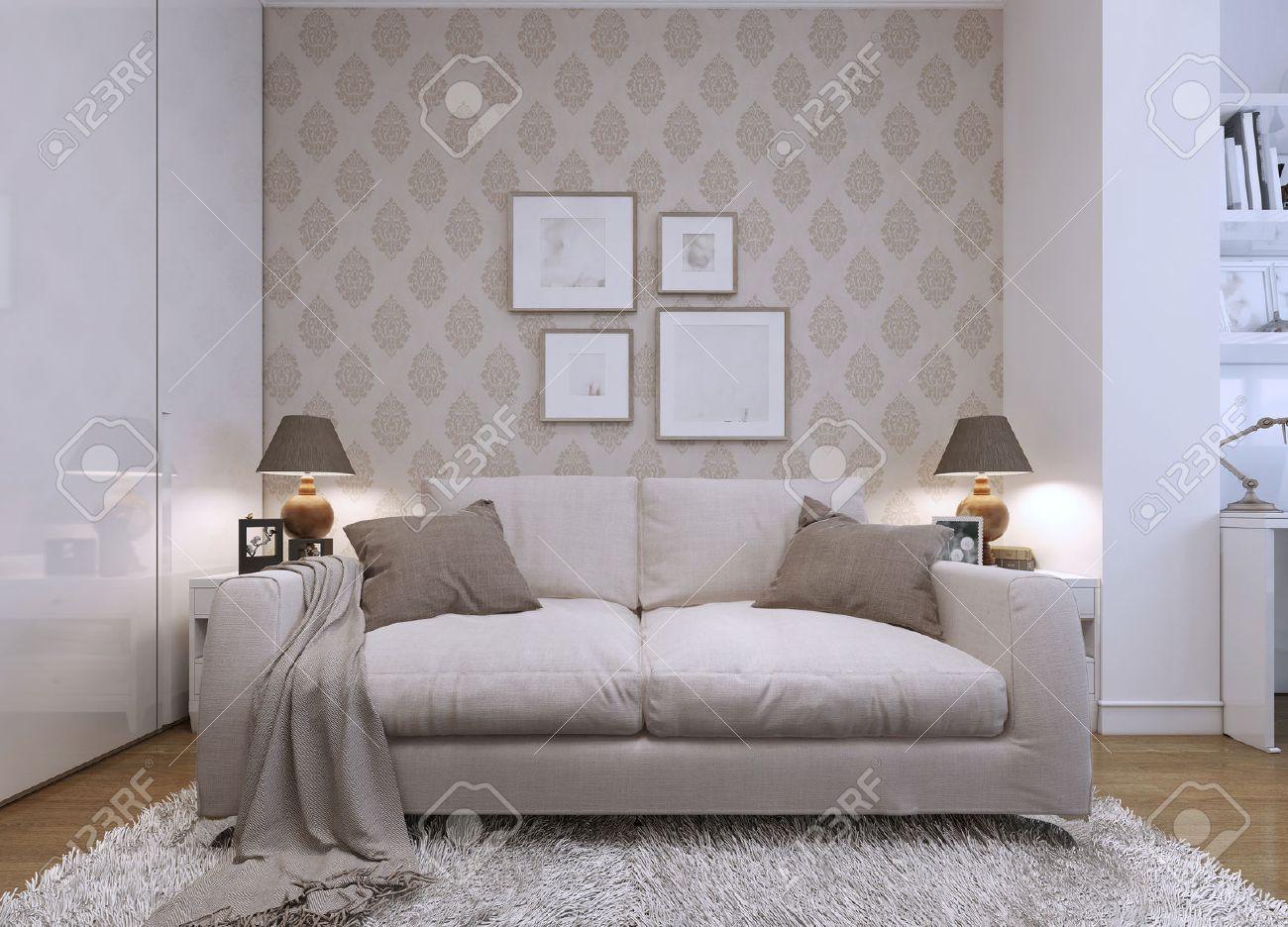 Wohnzimmer Tapete Braun Beige