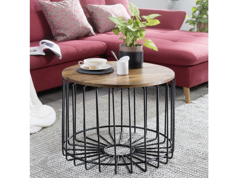 Wohnzimmer Tisch Rund Metall