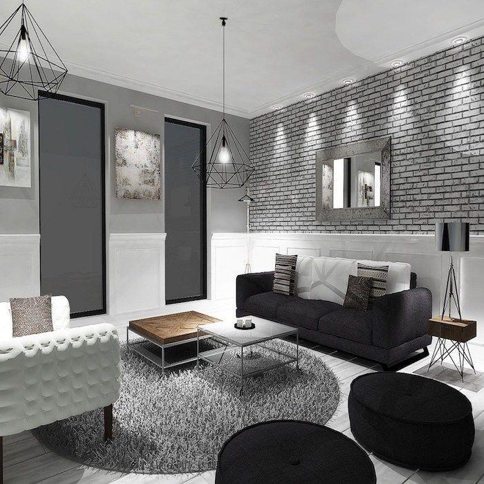 Wohnzimmer Wandfarbe Grau Kombinieren