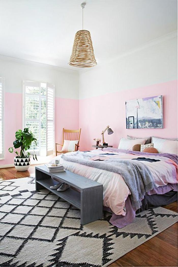 Wohnzimmer Wandfarbe Grau Rosa