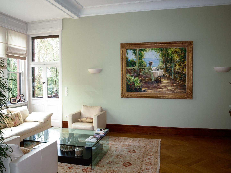 Wohnzimmer Wandfarbe Grün
