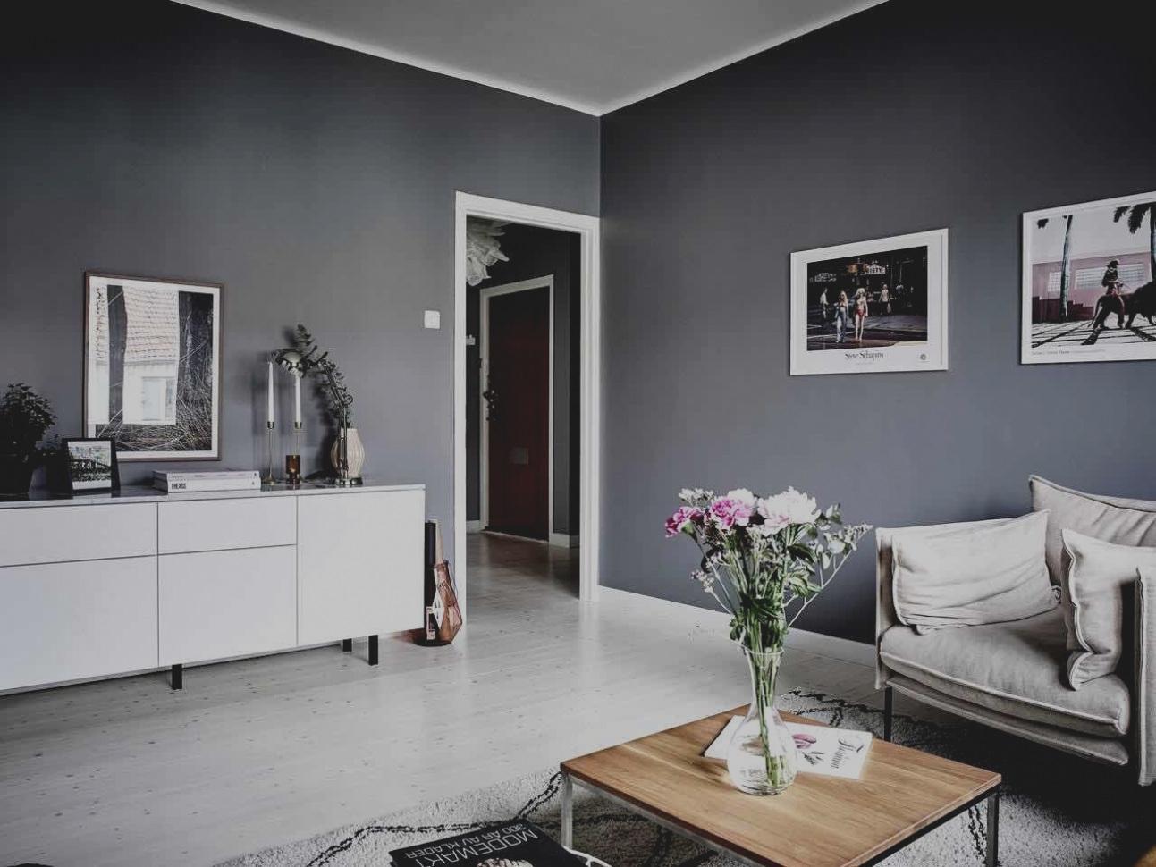Wohnzimmer Wandgestaltung Grau