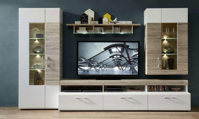 Wohnzimmer Wandregal Weiß