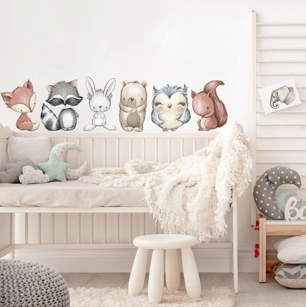 Wohnzimmer Wandtattoo Tiere