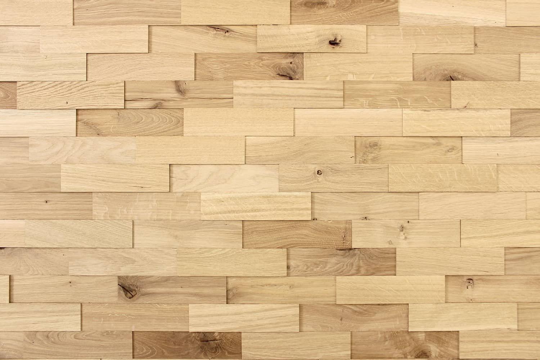 Wohnzimmer Wandverkleidung Holz Eiche