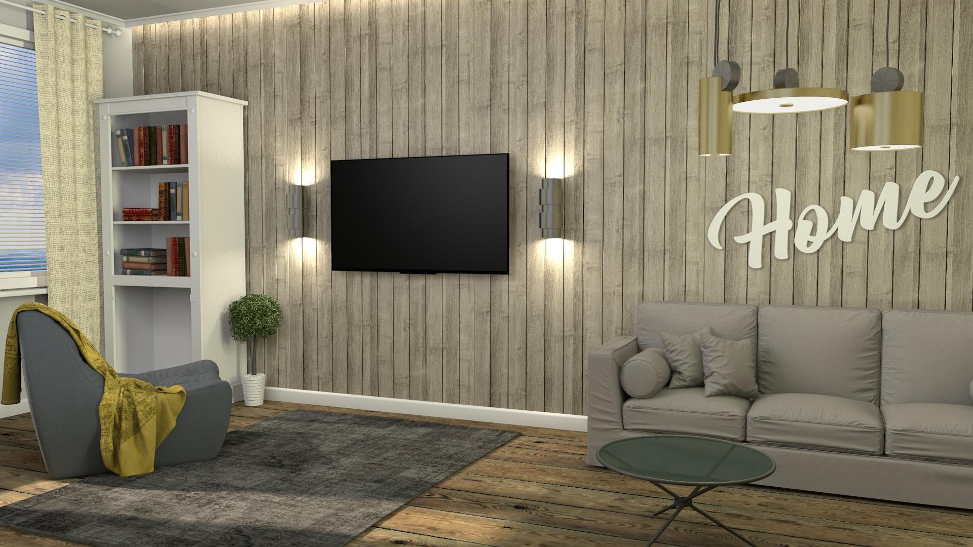 Wohnzimmer Wandverkleidung Holz Vintage