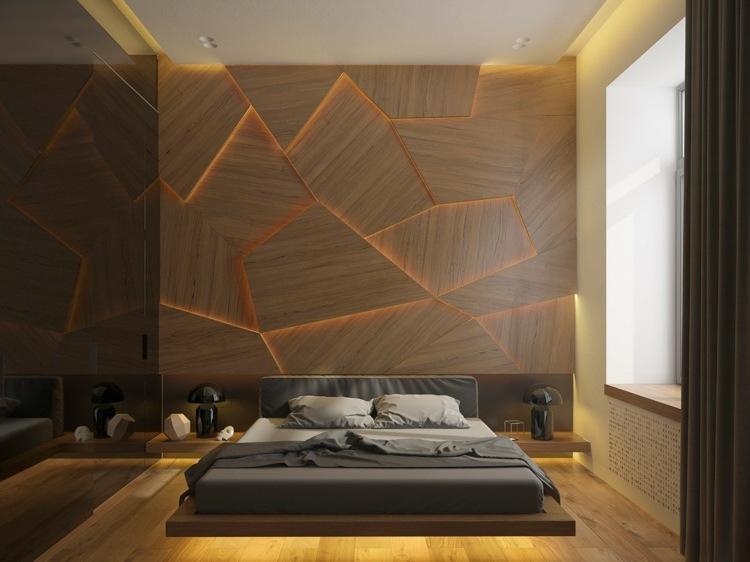Wohnzimmer Wandverkleidung Holz
