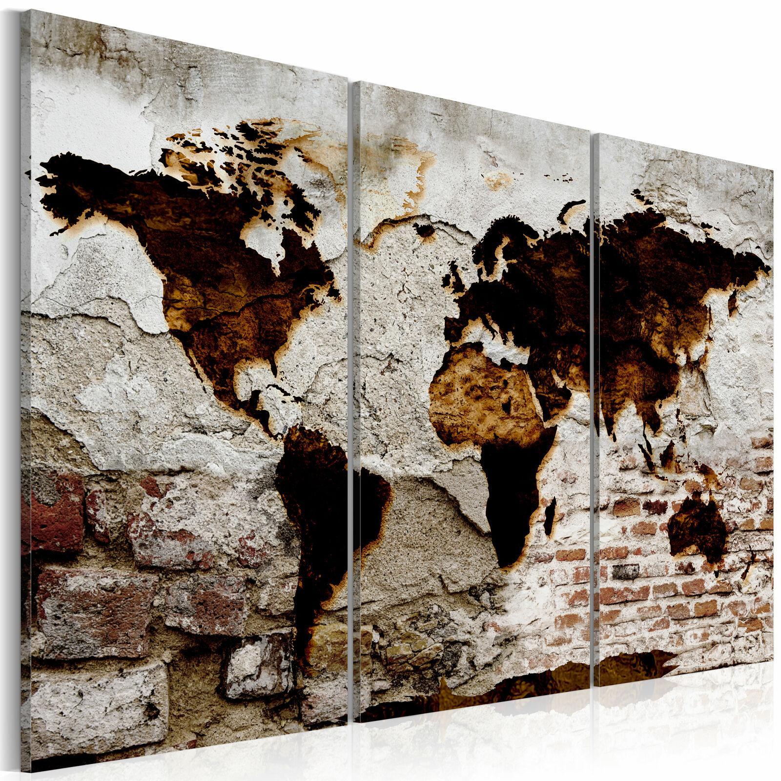 Wohnzimmer Weltkarte Wandbild