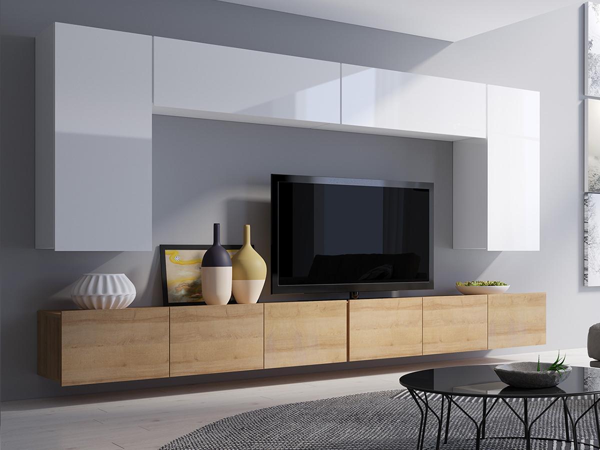 Wohnzimmer Wohnwand Holz Modern