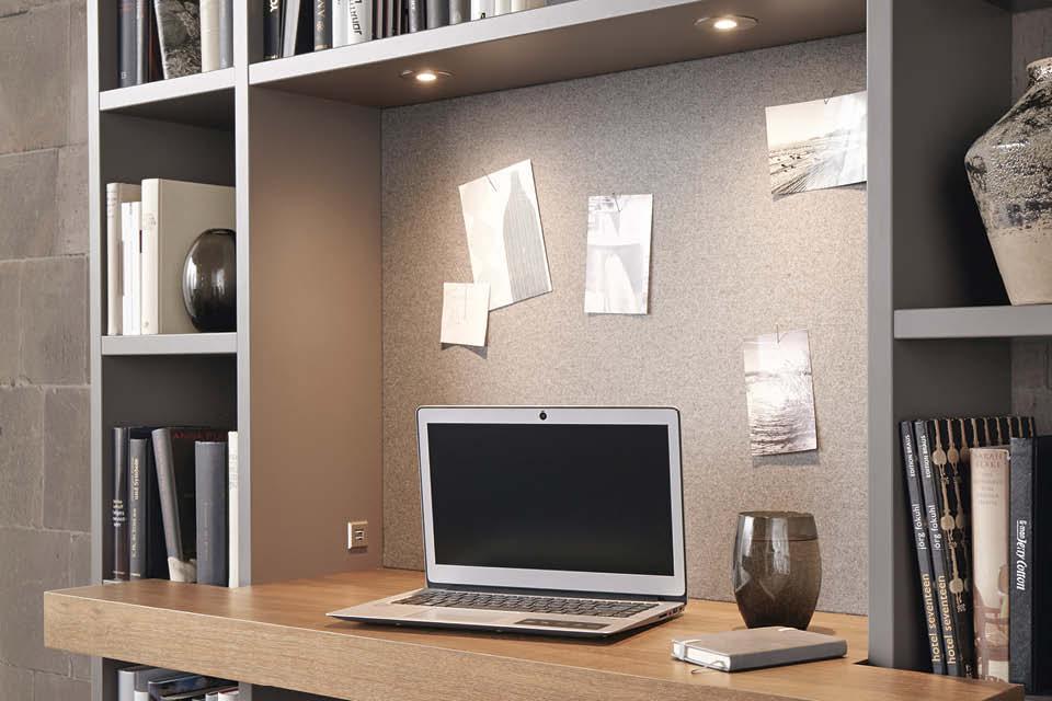 Wohnzimmer Wohnwand Mit Schreibtisch