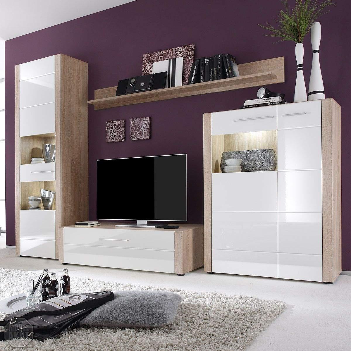 Wohnzimmermöbel Eiche Weiß