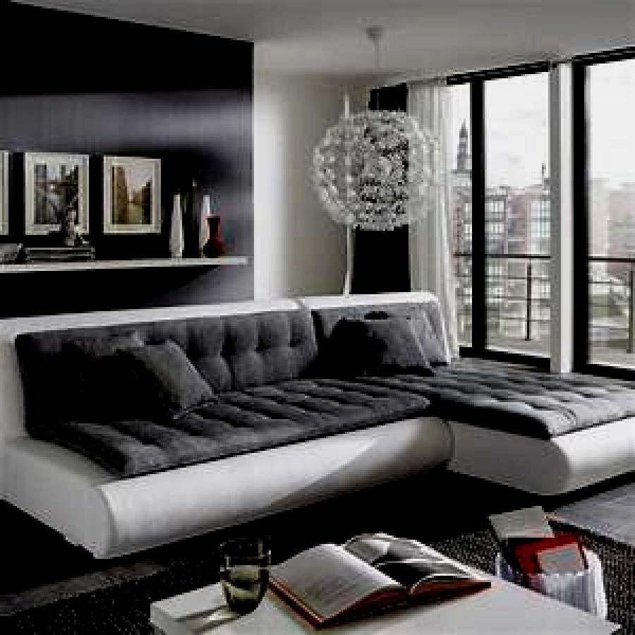Wohnzimmermöbel Grau Weiss